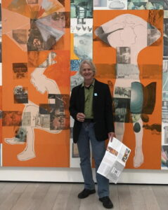 In front of Robert Rauschenberg